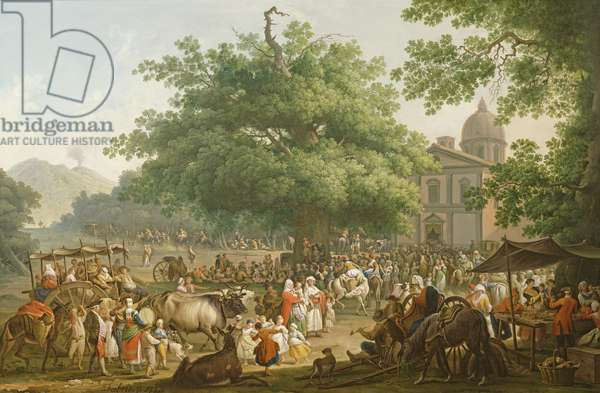 The Festival of the Madonna dell'Arco, 1777 (oil on canvas)