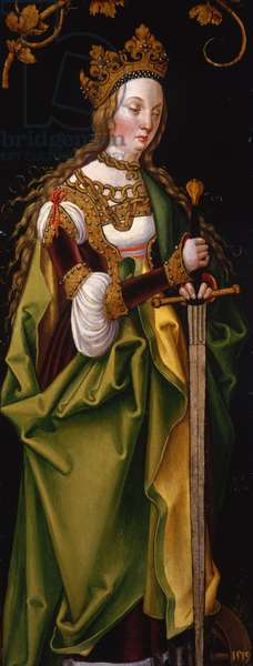 Saint Catherine, wing of a Franconian altarpiece, c.1519-27 (oil on panel)