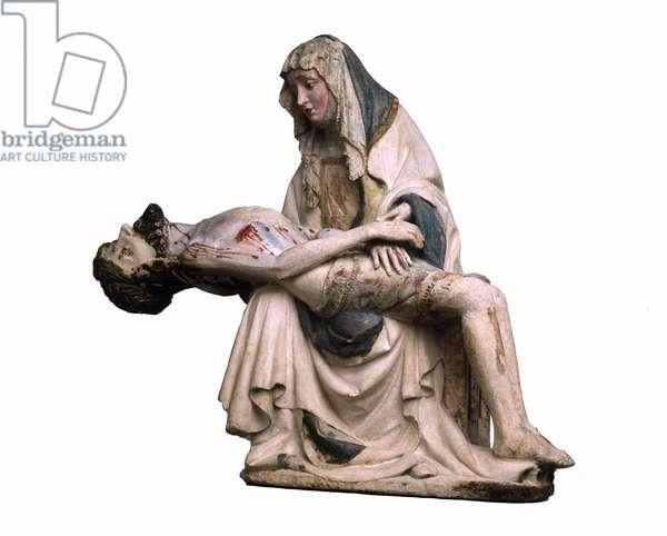 Vesperbild, or Pieta, c.1410-20 (chalk stone)