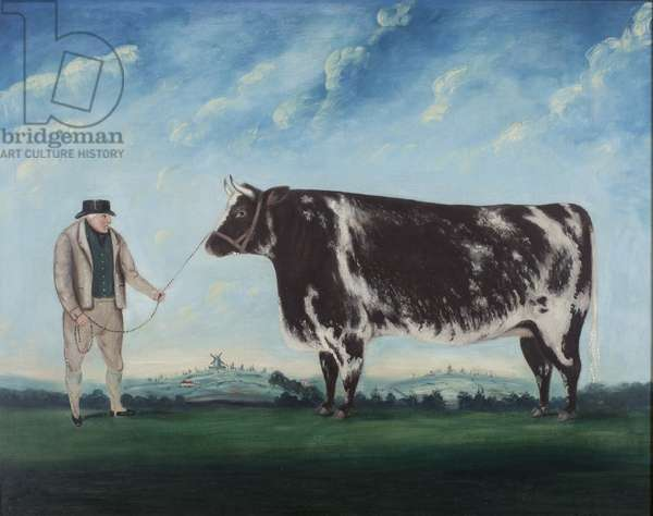 A Farmer and His Prize Heifer, c.1844 (oil on canvas)