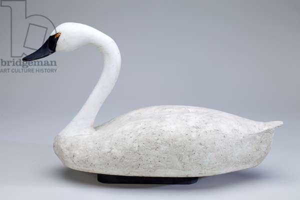 Floating Swan Decoy, 1955 (cork, wood and lead)