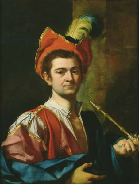 Portrait of a Man Smoking a Pipe, c.1730 (oil on canvas)