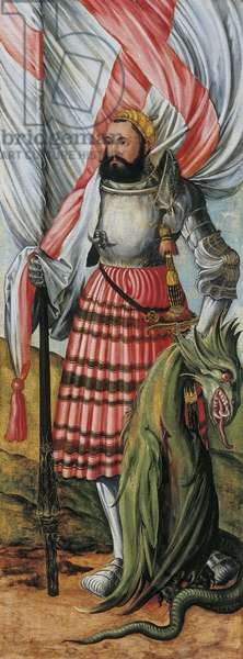 Saint George and the Dragon, wing of a Franconian altarpiece, c.1519-27 (oil on panel)
