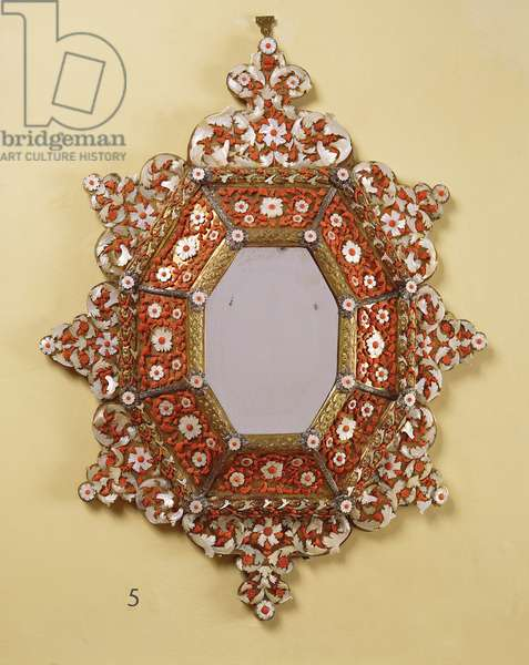 Trapani Mirror, c.1680 (coral, mother-of-pearl & gilt copper)