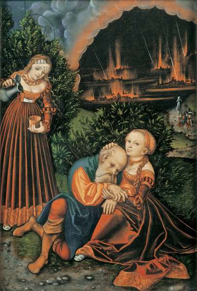 Lot and his Daughters, c.1530 (oil on panel)