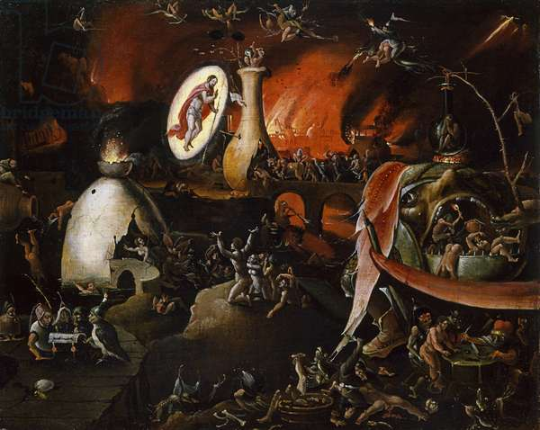 The Descent into Limbo, 1547-77 (oil on panel)