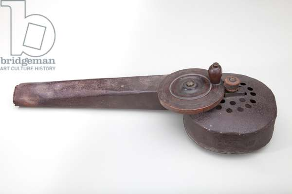 Fire Bellows, c.1800 (metal and mahogany)