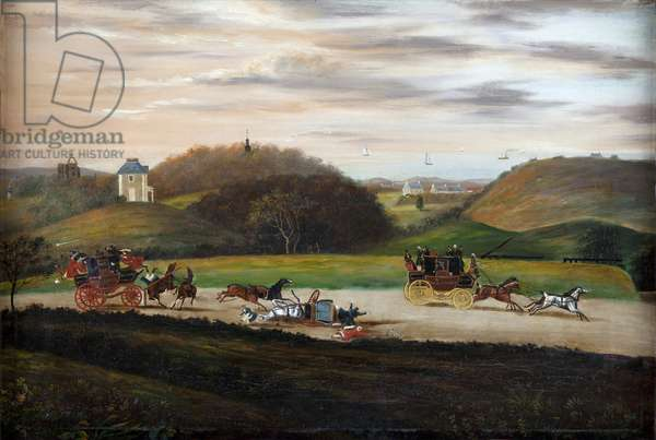 Accident on the Road to Inverness, c.1825 (oil on canvas)