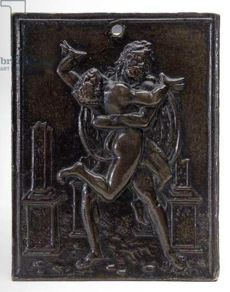 Hercules overcoming Antaeus, c.1488-89 (bronze plaquette)