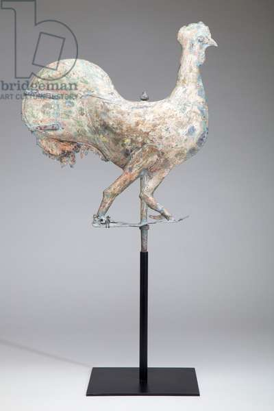 Cockerel Weathervane, 1800-50 (zinc and iron)
