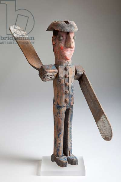 Policeman Whirligig, early 19th century (wood)