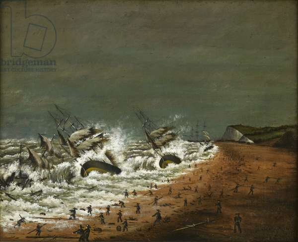 A Terrible Shipwreck, 1870 (oil on canvas)