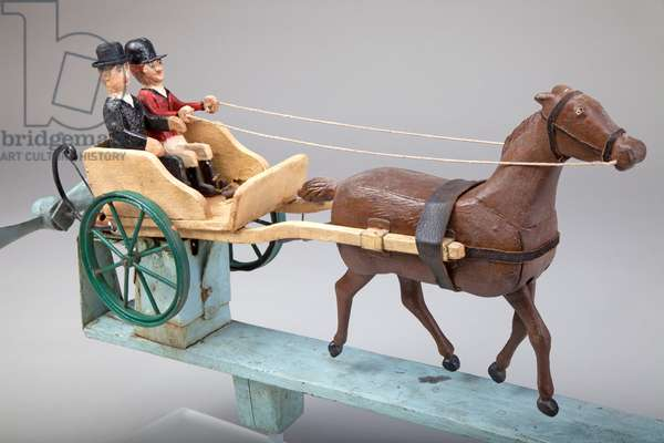 Pony and Trap Whirligig, c.1900 (wood with metal)