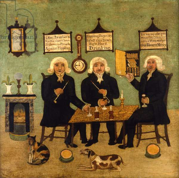 Three Sober Preachers, c.1860 (oil on canvas)