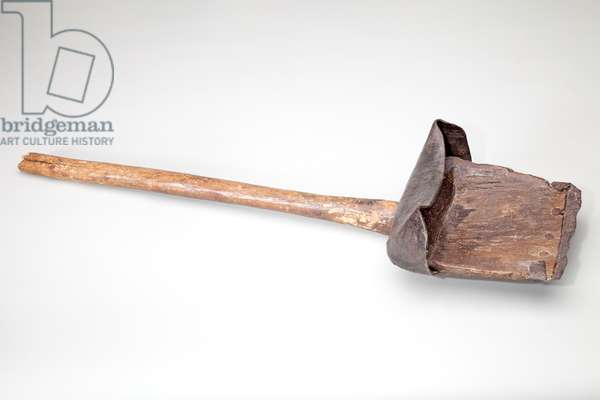 Ditcher's Shovel, 1850-1900 (wood, leather and wrought iron)