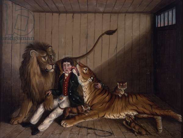 In the Lion's Den, c.1870 (oil on canvas)