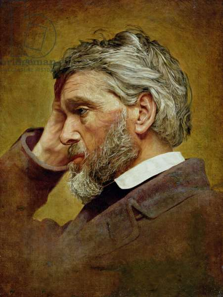 Portrait of Thomas Carlyle (1795-1881) 1866 (oil on canvas)