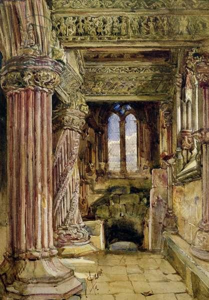 Rosslyn Chapel, Scotland (w/c on paper)