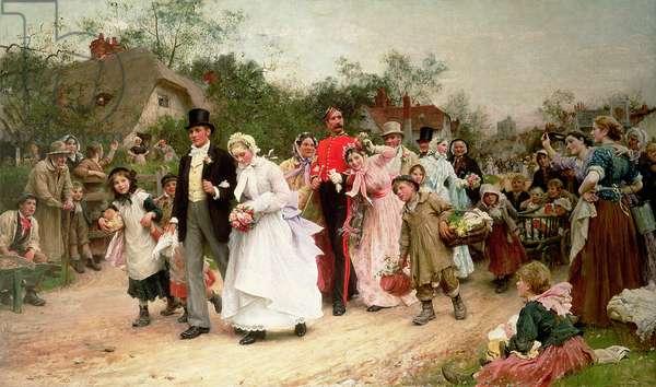 The Village Wedding, 1883 (oil on canvas)