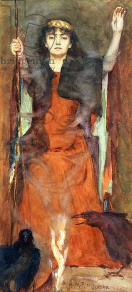 The Sorceress, 1898 (w/c & gouache on paper)