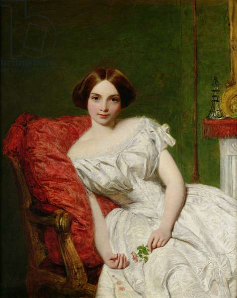 Portrait of Annie Gambart (oil on canvas)