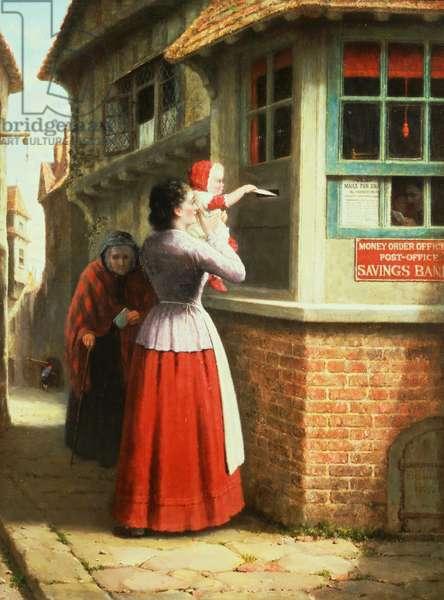 Posting a letter, 1879