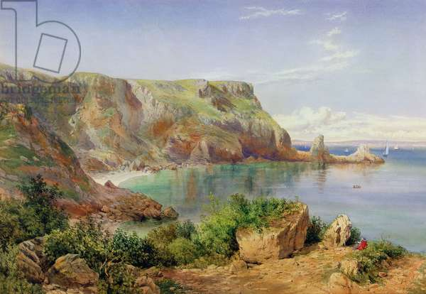 Ansty's Cove, Babbacombe, Devon, 1861 (pencil & w/c on paper)
