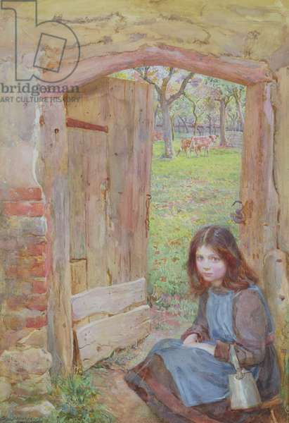 At the Orchard Gate, 1903 (w/c and bodycolour on paper)