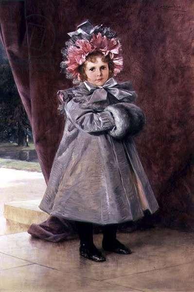 La Promenade: Portrait of Miss Eliza Conkling of New York, 1899 (oil on canvas)