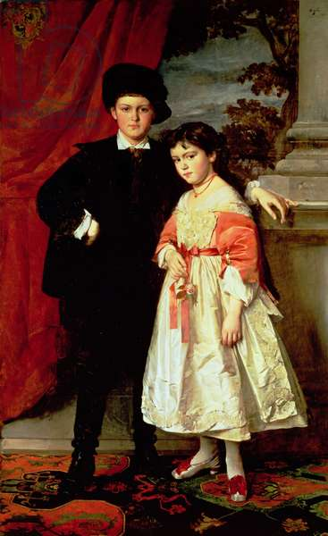 The children of Freiherr von Seidler (oil on canvas)