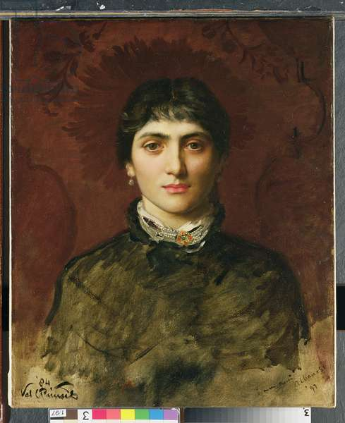 Portrait of a Woman with Dark Hair, 1884 (oil on canvas)