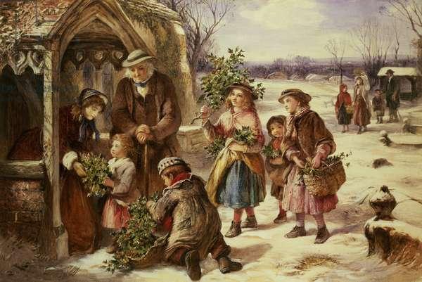 Christmas Morning, 1865 (oil on canvas)