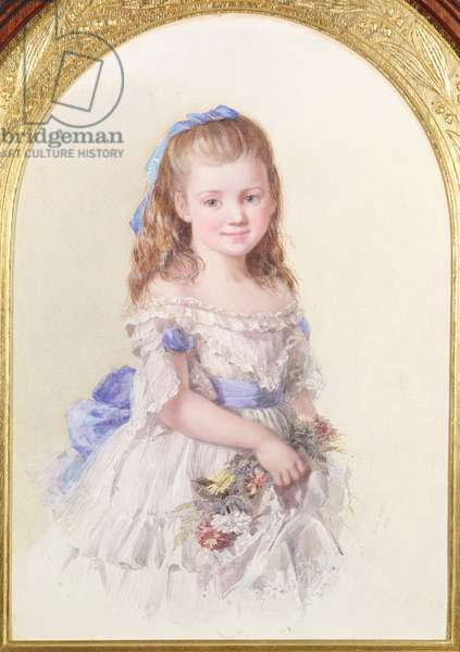 Portrait of Winifred Mary Bombass, aged ten, 1872