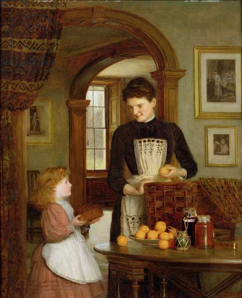 Tommy's School Hamper, 1894 (oil on board)