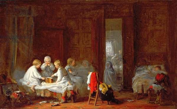 A Midnight Feast, 1866 (oil on panel)