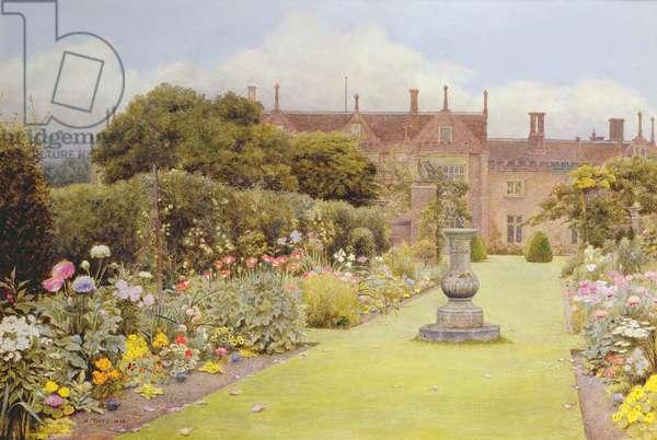 The Grass Walk, Helmingham Hall, 1892 (w/c on paper)