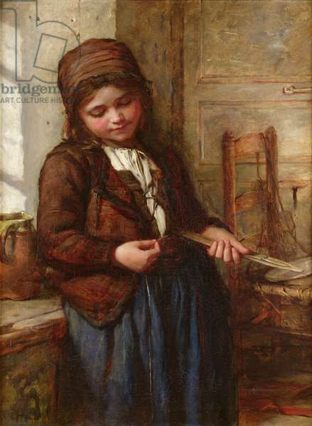 A Boulogne Fish Girl, 1866 (oil on canvas)