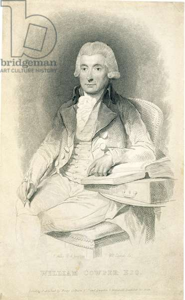 William Cowper (1731-1800), engraved by W.C. Edwards, 1823 (engraving)