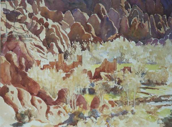 Dades Gorge, Ruined Kasbah, 2000 (w/c)