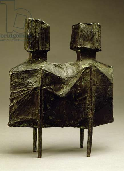 Maquette IV Two Watchers V, 1967 (bronze)