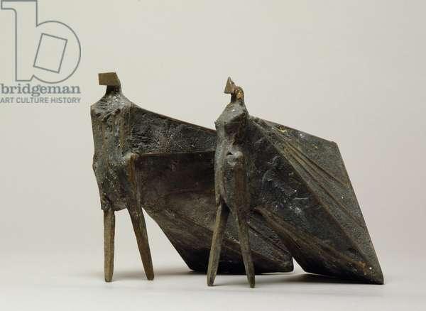 Pair of Cloaked Figures II, 1977 (bronze)