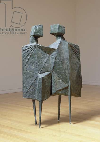Two Watchers V Second Version, 1967 (bronze)