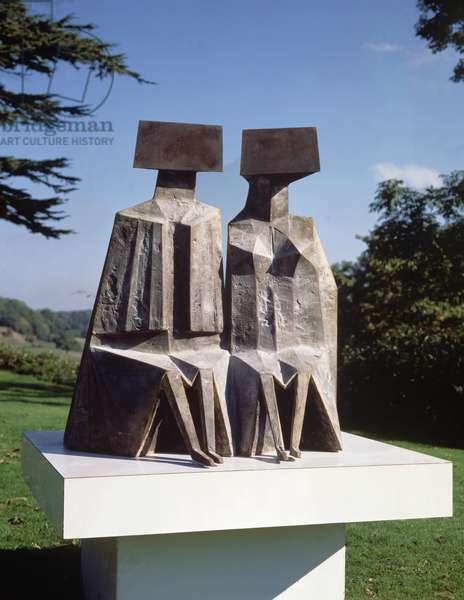Sitting Figures, 1989 (bronze)