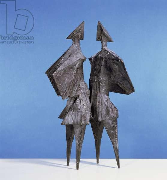 Winged Figures, 1976 (bronze)