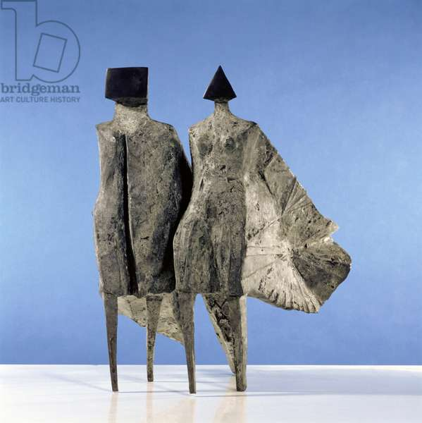 Cloaked Couple I, 1977 (bronze)