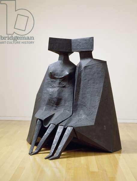 Sitting Figures, 1979-80 (bronze)