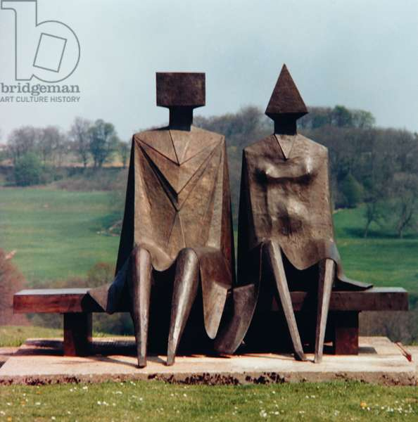 Couple on Seat, 1984 (bronze) (see also 405488)