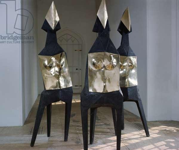 Three Elektras, 1969 (bronze, polished face & torso) (see also 321148)