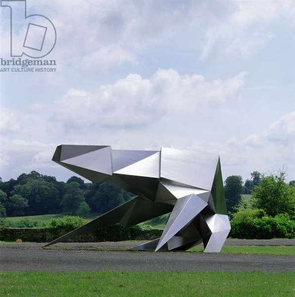Crouching Beast II, 1990 (welded stainless steel)
