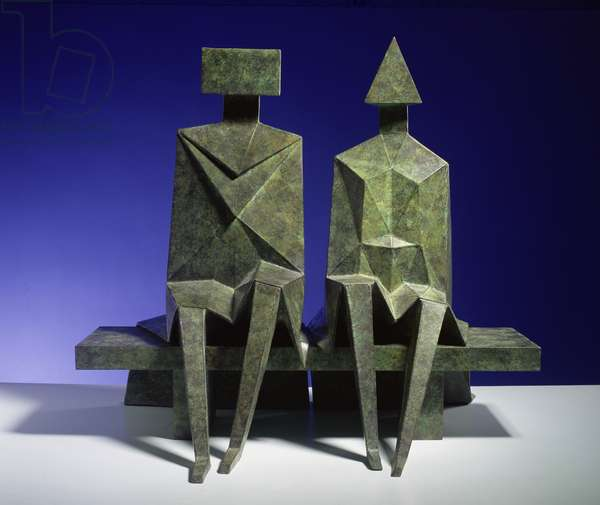 Sitting Couple, 1990 (bronze)